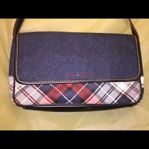 Tommy Hilfiger's Denim & Plaid Vinyl Shoulder Bag
